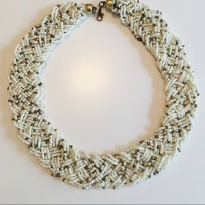 Vintage woven beaded necklace